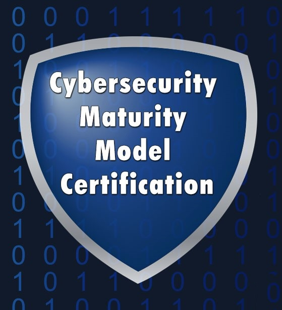 Cybersecurity maturity model certification CMMC logo