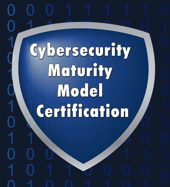 Cybersecurity maturity model certification CMMC logo