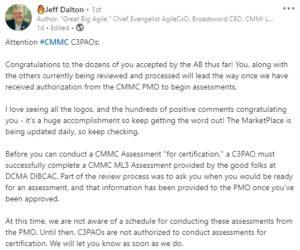 CMMC News - January 23, 2021