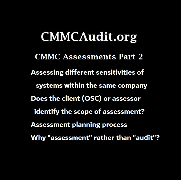 title card for CMMC assessment interview with Jeff Dalton