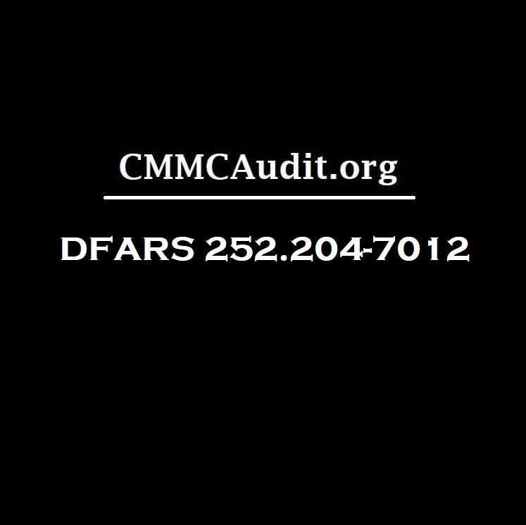 Title card showing dfars 252.204-7012