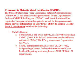 CMMC News - May 30, 2021